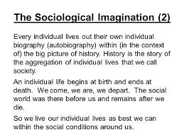 chapter on being sociological ppt  the sociological imagination 2