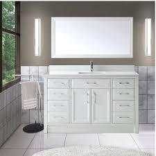 bathroom vanity 60 inch: art choice  inch transitional single sink bathroom vanity white finish