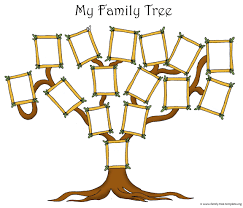Free Family Tree Chart Free Printable Family Tree Template For Kids Cute 2 Allwaycarcare Com