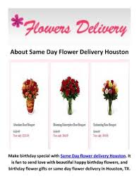 page 1 about same day flower delivery houston