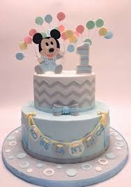 Mickey Mouse 1st Bday Cake Inspiring Baby Mickey Mouse 1st Birthday