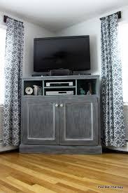 tall corner media console