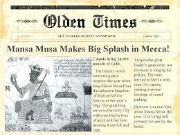 Newspaper Front Page Template For Kids Tlcmentoring Info