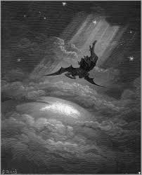 paradise lost by john milton essay title is god just writework satan on his way to bring about the downfall of adam gustave doratildecopy s illustration for