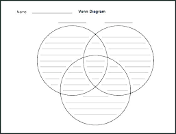 Free Venn Diagram Template With Lines Blank 3 Way Venn Diagram Template Lapos Co