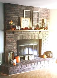 best fireplace mantel ideas images on enchanting brick mantels painted red br painting brick fireplace