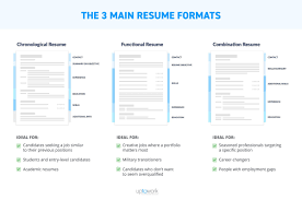 Correct Resume Format Unique Example Of Three Main Resume Formats Infographic Simple Right Resume