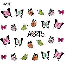 12 Designs in 1 Sweet Butterfly Nail Wraps Nail Art Stickers ...