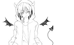 小悪魔系男子線画 Ibispaint