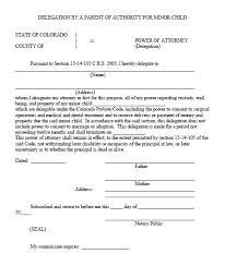 Power Of Attorney For Child Care Power Of Attorney For Child Template