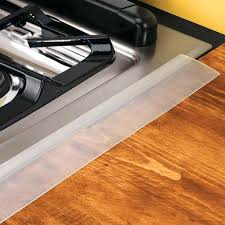 fill gap between range and countertop stove counter gap cover filler drake