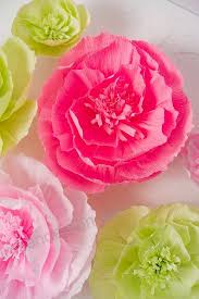 Pink Paper Flower Decorations Paper Flower Decorations Giant Paper Flowers Green Pink Set