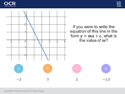 straight line graphs foundation higher gcse maths question of the week the worksheet
