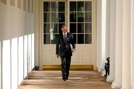 us president office. U.S. President Barack Obama Walks The Colonnade Toward Oval Office Of White House In Us D