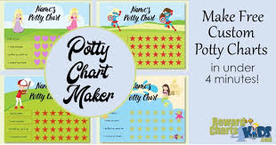 Free Potty Training Reward Chart And Stickers Potty Chart Diy Free Online Potty Chart Maker No