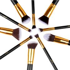 gold makeup brushes. jessup brand 10pcs black/gold makeup brushes beauty foundation kabuki cosmetics sets brush set blush kit tools-in underwear from mother gold