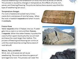 weathering and causes of soil erosion