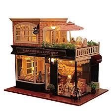 handmade dolls house furniture. Rylai Wooden Handmade Dollhouse Miniature Diy Kit Romantic Cafe Series Dollhouses Furniture Dolls House