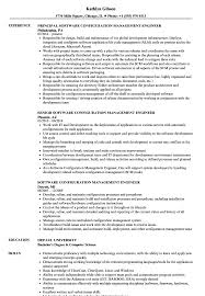 Software Configuration Management Engineer Resume Samples Velvet