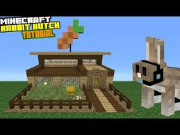 minecraft tutorial how to make a rabbit hutch play