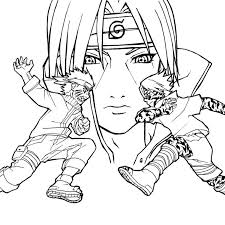Coloriage Naruto Vs Sasuke A Imprimer Gratuit Naruto