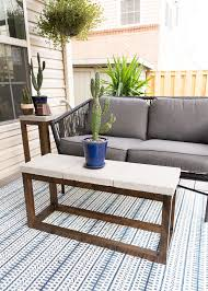 diy outdoor coffee table with a