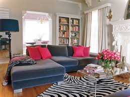 Zebra Rug Living Room Interior Design Ideas Luxury Living Room Design With Navy Blue