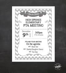 Meeting Announcement Flyer Custom Printable Great For Etsy