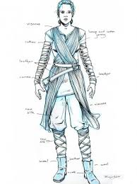 here s a great picture to show you the detail in rey s costume