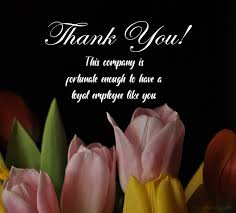 thank you messages for employees and