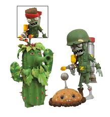 diamond select toys plants vs zombies garden warfare foot solr zombie vs camo