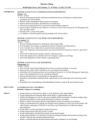 Example Of Accountant Resumes Reporting Senior Accountant Resume Samples Velvet Jobs