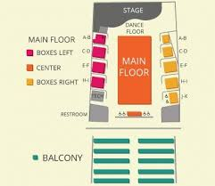 Je Broyhill Civic Center Seating Chart Seating Chart Reeves Theater
