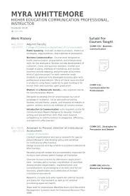 Sample Professor Resume Adjunct Professor Resume Sample Simple Of For Assistant Management