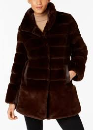 faux fur coat jones new york