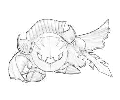 Small Picture Meta Knight Coloring Page Coloring Home
