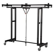 accessories excellent rolling coat rack metal material black powder caot finish with chromehanger bar 4 locking