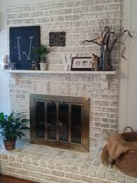 painting a fireplace whitewhite washed  Trendy Thrifting
