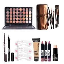 makup tool kit must have cosmetics including eyeshadow matte lipstick with foundation eyeliner makeup brush set makeup gift set makeup sets uk from huangcen