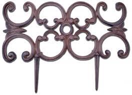 ornate decorative edging iron garden