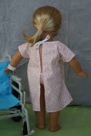 Hospital Gown Pattern Enchanting Arts And Crafts For Your American Girl Doll Hospital Gown And Wrist