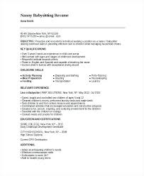 How To Put Babysitting On A Resume Classy Sample Nanny Resume Skills For Babysitting Letsdeliverco