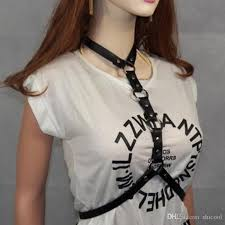 womens leather harness belt y statement chokers waistband punk fashion cosplay festival party jewelry tool belt seat belt from shicool