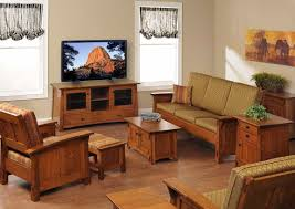 shaker style furniture. Great Living Room With Wooden Shaker Style Furniture And Neutral Walls