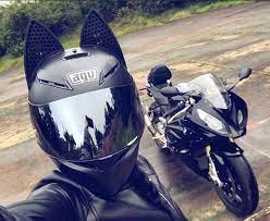 What's it going to look like on a simpson bandit? Helmet Motorcycle Helmet Cat Ears