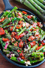 asparagus salad with roasted bell peppers