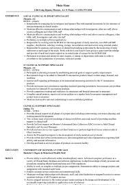 sample clinical nurse specialist resume clinical support specialist resume samples velvet jobs