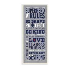 shedd superhero rules typography kids