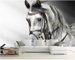 Beibehang Behang Woonkamer Zwart Wit Klassieke Schets Paard