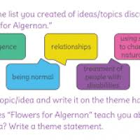 themes for flowers for algernon page flowers ideas for review  lesson 24 understand a theme in flowers for algernon learnzillion